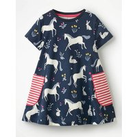 Colourful Printed Tunic Navy Girls Boden, Navy