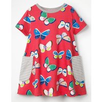 Colourful Printed Tunic Red Girls Boden, Pink