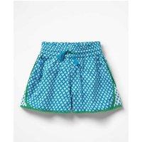 Hotchpotch Woven Shorts Blue Girls Boden, Blue