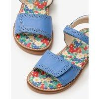 Leather Padded Sandals Blue Girls Boden, Blue