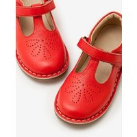 Leather T-bar Flats Red Girls Boden, Red