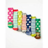 7 Pack Sock Box Blue Girls Boden, Blue