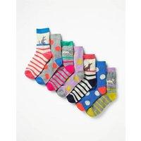 7 Pack Sock Box Multi Girls Boden, Multi