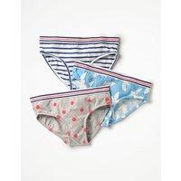 3 Pack Pants Blue Girls Boden, Blue