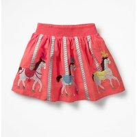 Colourful Applique Skirt Pink Girls Boden, Pink
