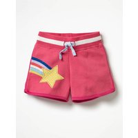 Appliqué Jersey Shorts Pink Girls Boden, Pink