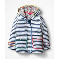 Jersey-lined Anorak Navy Girls Boden, Navy