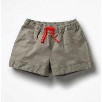 Heart Pocket Shorts Khaki Girls Boden, Green