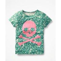 Flock Printed T-shirt Green Girls Boden, Green