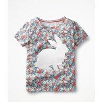 Flock Printed T-shirt Multi Girls Boden, Multi