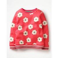 Cosy Printed Sweatshirt Pink Girls Boden, Pink
