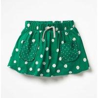 Spotty Jersey Skort Green Girls Boden, Green