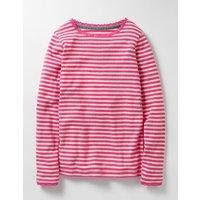 Supersoft Pointelle T-shirt Pink Girls Boden, Pink