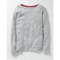 Supersoft Pointelle T-shirt Grey Girls Boden, Grey