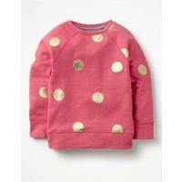 Foil Spot Sweatshirt Pink Girls Boden, Pink