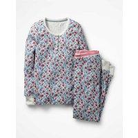 Henley Pyjama Set Ivory Girls Boden, Ivory