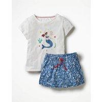 Shortie Pyjama Set Blue Girls Boden, Blue