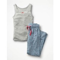 Vest Pyjama Set Pink Girls Boden, Pink