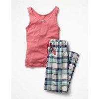 Vest Pyjama Set Blue Girls Boden, Blue