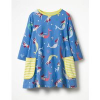 Printed Tunic Blue Girls Boden, Blue