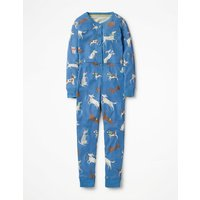 Printed All-in-one Pyjamas Blue Girls Boden, Blue