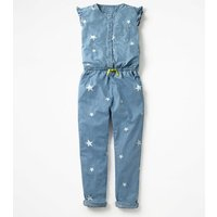 Chambray Stars Jumpsuit Denim Girls Boden, Denim