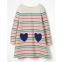 Heart Pocket Jersey Dress Multi Girls Boden, Multi