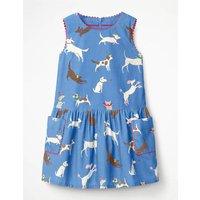Cord Pinafore Dress Blue Girls Boden, Blue