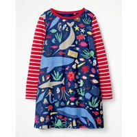 Jersey Swing Dress Multi Girls Boden, Multi