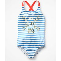 Cross-back Swimsuit Blue Girls Boden, Blue