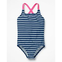 Cross-back Swimsuit Navy Girls Boden, Navy at Boden Catalogue
