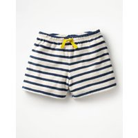 Adventure Towelling Shorts Navy Girls Boden, Navy