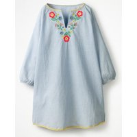 Embroidered Kaftan Blue Girls Boden, Blue