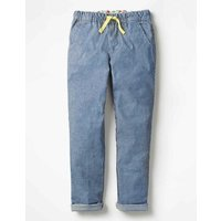 Pull-on Trousers Blue Girls Boden, Blue