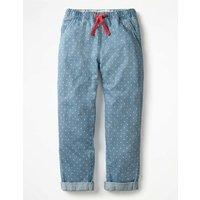 Pull-on Trousers Denim Girls Boden, Denim