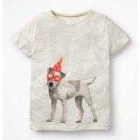Printed T-shirt Ivory Girls Boden, Ivory