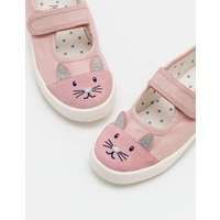 Canvas Mary Janes Pink Girls Boden, Pink