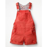 Short Dungarees Red Girls Boden, Red