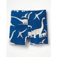 Jersey Shorts Blue Girls Boden, Blue