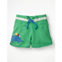 Applique Jersey Shorts Green Girls Boden, Green