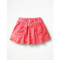 Spotty Jersey Skort Pink Girls Boden, Pink