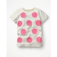 Spot Colour-change T-shirt Ivory Girls Boden, Ivory