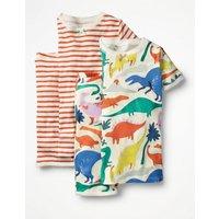 Twin Pack Short John Pyjamas Multi Girls Boden, Multi