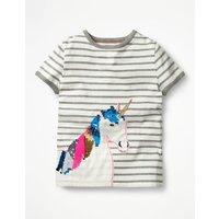 Sequin Colour-change T-shirt Grey Girls Boden, Grey
