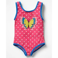 Fun Detail Swimsuit Pink Girls Boden, Pink