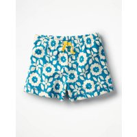 Adventure Towelling Shorts Blue Girls Boden, Blue