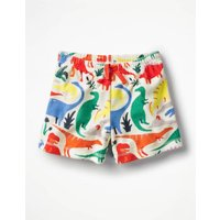 Adventure Towelling Shorts Multi Girls Boden, Ivory