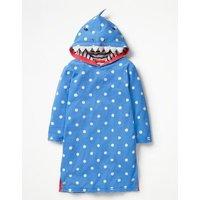 Applique Towelling Beach Dress Blue Girls Boden, Blue