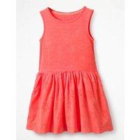 Jersey Woven Dress Pink Girls Boden, Pink
