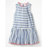 Drop-waist Woven Dress Ivory Girls Boden, Ivory
